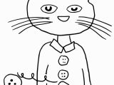 Pete the Cat and His Four Groovy buttons Coloring Page Pete the Cat Groovy buttons Coloring Page
