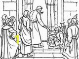 Peter and John Heal A Lame Man Coloring Page Peter and John Heal A Lame Man Coloring Page