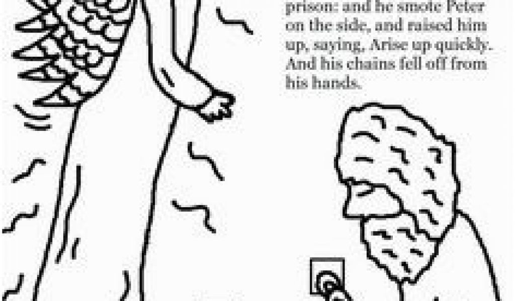 Peter and John In Jail Coloring Page 82 Best Peter Escapes ...