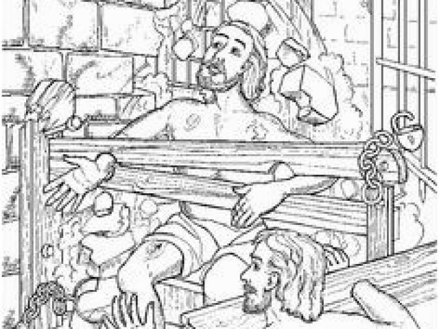 Peter and John In Jail Coloring Page Apostle Paul Coloring ...