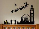 Peter Pan Shadow Wall Mural Peter Pan Wall Decal