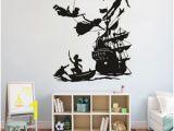 Peter Pan Wall Mural Uk Peter Pan Wall Decal Boy Dream Cartoon Decals Pirates Ship Decor Wall Sticker Kids Room Bedroom Waterproof Vinyl Decals
