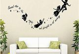 Peter Pan Wall Mural Uk Peter Pan Wall Stickers Decal Kids Room Nursery Mural