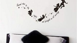 Peter Pan Wall Mural Uk Tinkerbell Second Star to the Right Peter Pan Wall Decal