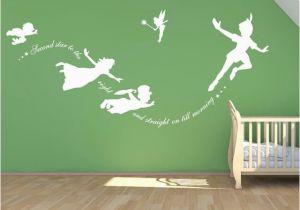 Peter Pan Wall Murals Peter Pan Wall Decal Vinyl Stickers Baby Nursery Bedroom Wall Art
