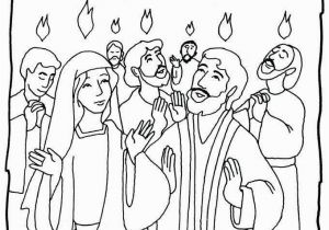 Peter Preaching at Pentecost Coloring Pages 20 Fresh Pentecost Coloring Page