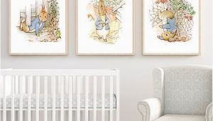 Peter Rabbit Wall Mural Stickers Peter Rabbit Set Of 3 Nursery Printables Set Of 3 Prints