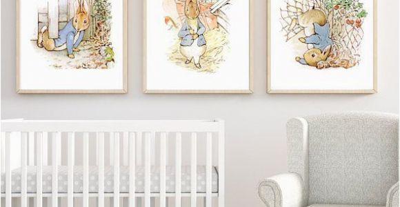 Peter Rabbit Wall Mural Stickers Peter Rabbit Set Of 3 Nursery Printables Set Of 3 Prints