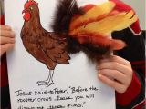 Peter S Vision Coloring Page Easy Rooster Craft for the Story Of Peter S Denial Of Jesus