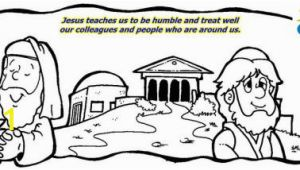 Pharisee and Tax Collector Coloring Page Unit 4 – the Parable Of the Pharisee and the Tax Collector