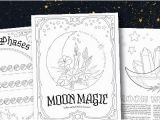 Phases Of the Moon Coloring Page A Free Moon Magic Coloring Page Set Coloring Book Of Shadows
