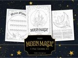 Phases Of the Moon Coloring Page Moon Magic Coloring Book Of Shadows