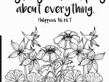 Philippians 4 4 Coloring Page Don T Worry About Anything Pray About Everything Free