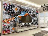 Photo Collage Wall Mural 3d Home Wallpaper Cool Retro Motorcycle Indoor Tv Background Wall Decoration Mural Wallpaper Wild Screen Wallpaper Window Wallpaper From Yunlin189