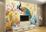 Photo Mural Maker Beibehang Custom 3d Wallpaper Living Room Bedroom Mural Peacock