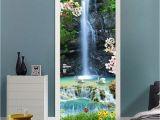 Photo Wall Mural Door 3d Clear Waterfall Landscape Door Mural