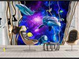 Photo Wall Murals Canada 3d Wallpaper Custom 3d Wall Murals Wallpaper Mural 3d Underwater World Dolphin theme World sofa Living Room Tv Wall Paper Home Decor Canada 2019