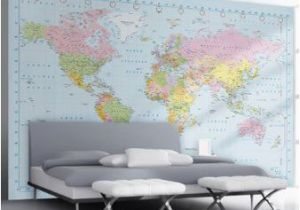 Photo Wall Murals Uk 1wall Stunning Digital Colour World Map Wallpaper Wall Mural Amazon
