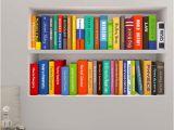 Photographic Wall Murals Line Shop Creative 3d Bookshelf Book Cabinet Door Study Wall Mural
