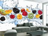 Photographic Wallpaper Murals Custom Wall Painting Fresh Fruit Wallpaper Restaurant Living