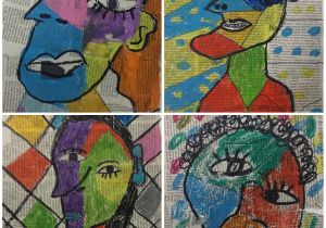 Picasso Cubism Coloring Pages Experimentando Con El Cubismo Picasso Cubism Pinterest