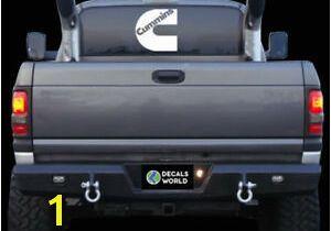 Pickup Truck Rear Window Murals 7 Inch Cummins Decal Vinyl Window Dodge Ram Sticker Diesel Rear