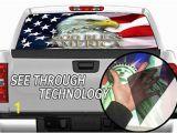 Pickup Truck Rear Window Murals Amazon P327 American Flag Eagle Tint Rear Window Decal Wrap