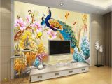 Picture Mural Maker Beibehang Custom 3d Wallpaper Living Room Bedroom Mural Peacock