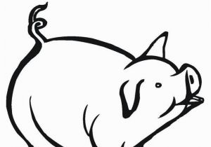 Pig On A Farm Coloring Page Free Printable Pig Coloring Pages for Kids
