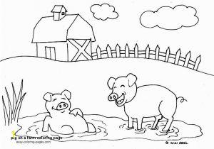 Pig On A Farm Coloring Page Pig A Farm Coloring Page Free Pigs to Paint Wood
