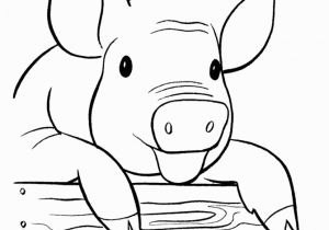 Pig On A Farm Coloring Page Printable Free Farm Pig Coloring Page