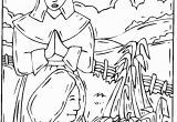 Pilgrim and Indian Coloring Pages Native American Coloring Pages for Adults Thanksgiving
