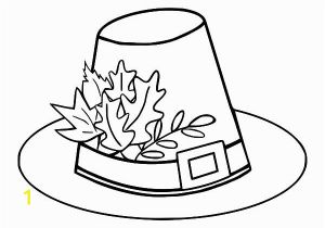 Pilgrim Hat Coloring Page 9849 Autumn Free Clipart 95