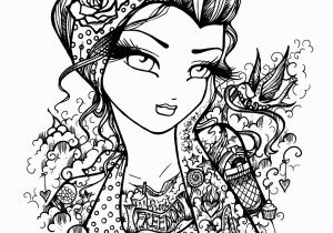 Pin Up Girl Coloring Pages for Adults Tattoo Darlings Free Sample Coloring Page Rockabilly Girl