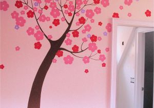 Pin Up Girl Wall Mural Hand Painted Stylized Tree Mural In Children S Room by Renee
