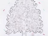 Pine Cone Coloring Page 22 A4 Pages Free Printable Giant Christmas Tree Coloring