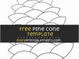 Pine Cone Coloring Page Free Pine Cone Template