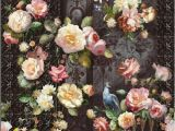 Pink Rose Wall Mural Black Background Hand Painted Pink Rose Wallpaper northern
