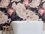 Pink Rose Wall Mural Watercolour Flower Wallpaper