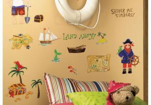 Pirate Map Wall Mural 45 New Treasure Hunt Wall Decals Pirates Bedroom Stickers Kids Room Decorations