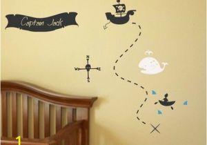 Pirate Map Wall Mural Pirate Treasure Map Your Name Boys Room Nursery Vinyl