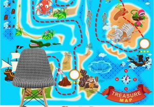 Pirate Map Wall Mural Treasure Map Wallpaper Wall Mural