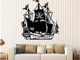 Pirate Ship Full Wall Mural Amazon Wall Stickers Vinyl Decal Ship Pirates Jolly