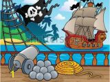Pirate Ship Wall Mural Pirate theme Backdrop Google Search Pirates