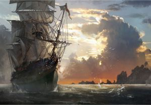 Pirate Ship Wall Murals Ghost Pirate Ship Wallpapers Hd Pirates In 2019