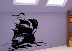 Pirate Ship Wall Murals Hot Sale Anime Wallpaper Baby Bedroom Vinyl Art Wall Sticker Pirate