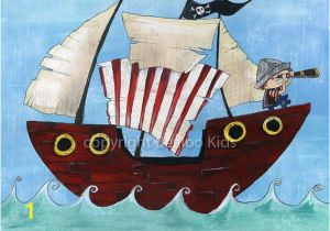 Pirate Ship Wall Murals Pirate Art 8×10 Pirate Ship Print On Etsy $15 00