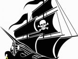 Pirate Ship Wall Murals Pirate Ship Boat Removable Vinyl Wall Decal with Skull