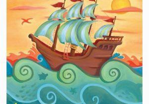 Pirate Ship Wall Murals Pirate Ship Canvas Art Canvas Ideas