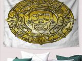 Pirate themed Wall Murals Amazon Pirate Wall Tapestry Medallion with Scary Skull